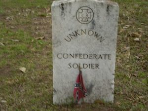grave of confederate soldier